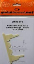 Quickboost 1/32 Kawasaki Ki61 Hien Undercarriage Covers for Hasegawa # 32075
