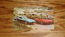 1965 Chevrolet Corvette Sting Ray Sport Coupe & Convertible Post Card 65 Chevy