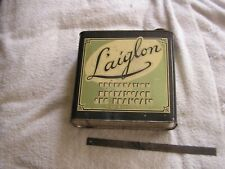 Vintage Laiglon Dry Cleaner Can Windsor Lloyd Products Inc. Art Deco Tin