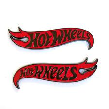 2x OEM Genuine Chevy Camaro Hot Wheels Edition Deck Black Red Emblems Badge F