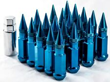"20"" 12X1.25 Aodhan XT92 SPIKED Lug Nuts BLUE FIT STR ESR MRR ROTA BBS VMR F1R"