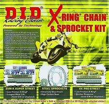 Honda CBR600RR '07-16 DID 520 chain and sprocket kit  OEM or Quick Accel