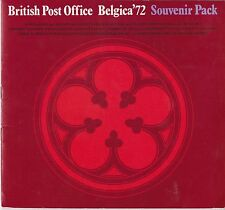 BRITISH POST OFFICE BELGICA '72 SOUVENIR PACK BOOK 1972 STAMP EXHIBITION