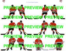 Coleco Table Hockey St. Cloud State Huskies Red Team Custom Decal Sheet