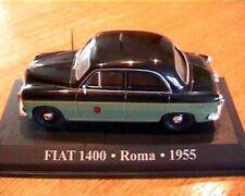 FIAT 1400 TAXI ROMA 1955 VERTE & NOIRE IXO 1/43 ITALIA ALTAYA ITALIE GREEN GRUN