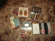 9 Vintage Set Playing Cards Some New In Wrapper Some Bridge Sets