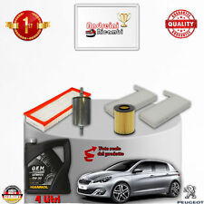 Filtres Kit D'Entretien + Huile Peugeot 308 II 1.6 THP 115KW 156CV Partir 2014->
