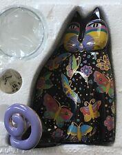 Franklin Mint - Laurel Burch 1998 Fine Porcelain Cat *NEW* Candle Holder