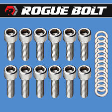 SBF VALVE COVER BOLTS STAINLESS STEEL KIT SMALL BLOCK FORD 260 289 302 351W 5.0L