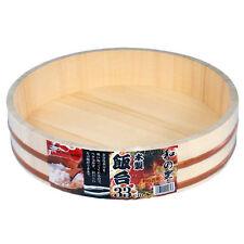 "Japanese Sushi Making Oke Wooden Temaki Sushi Hangiri 13"" Diameter (33cm)"
