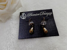 "Premier Designs Jewelry ""Florence""Antiqued Brass Plated Earrings"