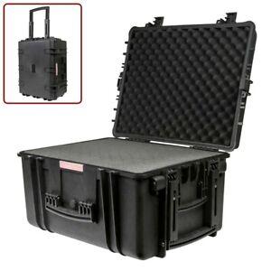 """Weatherproof Hard Case Shockproof Dry Box Wheels Customizable Foam 26 x 20 x 14"""""""