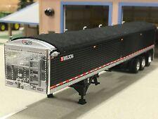 1/64 DCP BLACK WILSON TRI-AXLE GRAIN TRAILER W /Duals On All Three Axles.