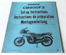 Istruzioni di montaggio negozio Manual set-up instructions HONDA CB 900 f2, 1983
