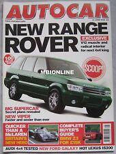 AUTOCAR 21/6/2000 featuring Dodge Viper GTS/R, Stealth B6, Audi, Range Rover