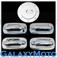 02-06 Chevy Avalanche Triple Chrome 4 Door Handle+w/o PSG Keyhole+Gas Cover Kit