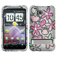 Fantastic Flowers Bling Case Cover HTC Thunderbolt 4G