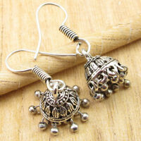 925 Silver Plated Brand New Jhumka Earrings, Traditional Indian Jhumki Jewelry
