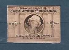 timbres France carnet de 8  Sourire de Reims de 1930 num:  256  **
