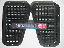 Land Rover Defender Black Powder Coated Rejillas De Ventilación Conducto de aire superior ala