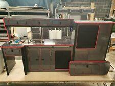 Vw T5/T6 lightweight ply furniture units Transit Vito campervan flush doors