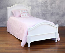 Single Bed French Provincial Style Mahogany Antiqued Kids Furniture Bed NEW