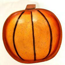 Fall Halloween Decorative Wooden Bowl Pumpkin