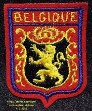 LMH PATCH Woven Badge  BELGIE Belgium BELGIQUE  Lion COAT ARMS  Gold Black Red
