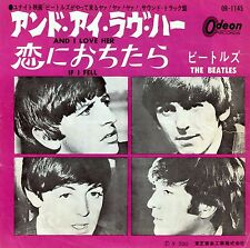 "BEATLES - And I Love Her/If I Fell PS - JAPAN ""RED WAX"" - 7"" 45RPM -First Press!"