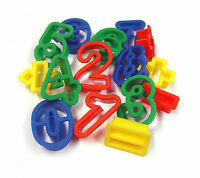 15 PLASTIC NUMBERS & MATHS DOUGH CUTTERS SYMBOLS SHAPES COOKIE CRAFT 9003-15