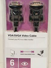 Belkin Vga/Svga Vidio Cables 6' Pc To Vidio Monitor