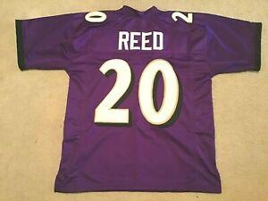 UNSIGNED CUSTOM Sewn Stitched Ed Reed Purple Jersey - M, L, XL, 2XL