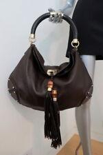 Gucci Babouska Indy Hobo Dark Brown Guccissima-Trim Leather Large Crossbody Bag