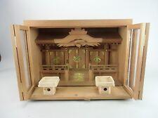 KD2 Japanese Vintage Wooden Kamidana Shinto Buddhist God House Shrine