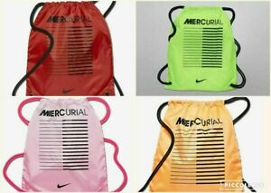 Nike Mercurial Sports Gymsack Training Gym Bag Sack Drawstring PE Team Kit Boots