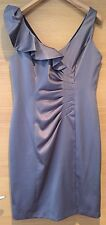 Petite Collection Debenhams 12 New With Tags Grey Taupe Satin Formal Dress Party