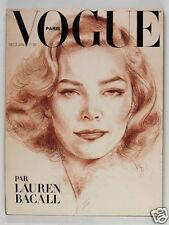 LAUREN BACALL David Hockney GUY BOURDIN Vertes SARAH MOON Paris Vogue magazine