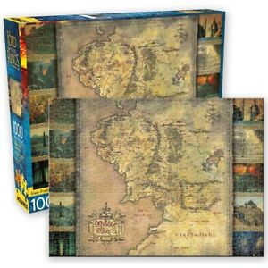 Aquarius The Lord of the Rings Middle Earth Map Puzzle 1000 Pieces