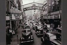 Street Scene in Welch West Virginia 1946, Cars, Movie Theater -- Modern Postcard