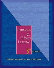 Harmony and Voice Leading by Edward Aldwell and Carl Schachter (2002, Hardcover,