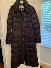 100% Authentic Burberry Brit Full Length (Long) Down Coat Size S. Great