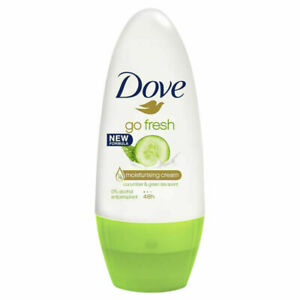 6 x Dove Roll On Go Fresh Cucumber & Green Tea Anti perspirant Deodorant, 50ML
