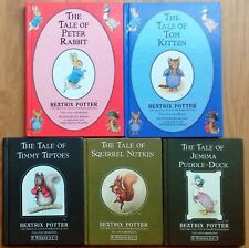 Collection of Beatrix Potter books x 5. Vintage Peter Rabbit Books 1980s, 1990s
