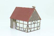 Spur N Fachwerkhaus Scheune Stall mit Storchennest fertig aufgebaut