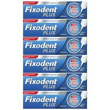 6 x Fixodent Plus Dual Premium Food Seal Denture Adhesive Cream 10x Stronger 40g