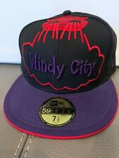 New Era Windy City Chicago Bulls Brand New 59fifty Fitted 7 1/2 Jordan Raptors
