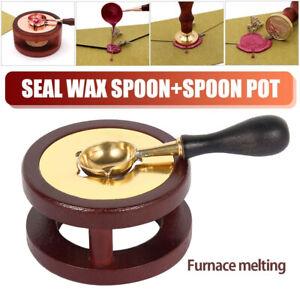 Vintage Wax Seal Furance Stamp Warmer Furnace Stove Pot Melting Stamp Tool
