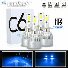 4X H7 H7 Ice Blue 8000K Light COB LED Headlight Bulbs 100W 20000LM High/Low Beam