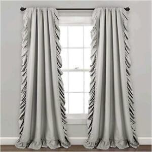 Lush Decor Reyna White Window Panel Pair, Light Gray, Size  y2hb