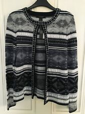 BNWT PRIMARK KNITTED AZTEC PRINT CARDIGAN SMALL NAVY VGC BESTSELLER